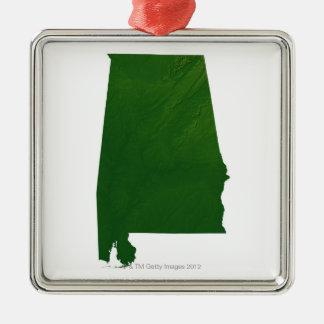 Karta av Alabama Julgransprydnad Metall