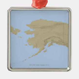 Karta av Alaska 3 Julgransprydnad Metall