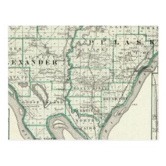 Karta av Alexander & Pulaski län Vykort