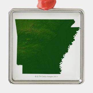 Karta av Arkansas Julgransprydnad Metall