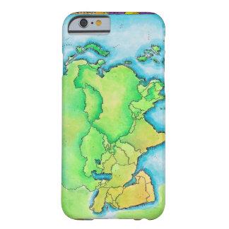 Karta av Asien Barely There iPhone 6 Skal