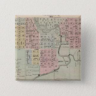Karta av Austin, gräsklippningsmaskinlän, Minnesot Standard Kanpp Fyrkantig 5.1 Cm