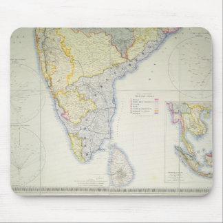 Karta av brittiska sydliga Indien, 1872 Musmatta