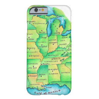 Karta av centralen United States Barely There iPhone 6 Fodral