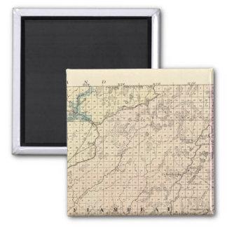 Karta av Chippewa County den nordliga delen Magnet