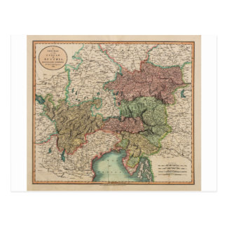 Karta av cirkla av Österrike i 1801 av John Cary Vykort