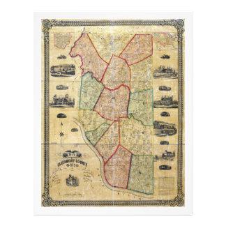 Karta av Clermont County Ohio (1857) Brevhuvud