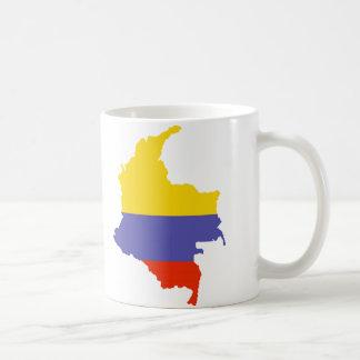Karta av Colombia Mugg