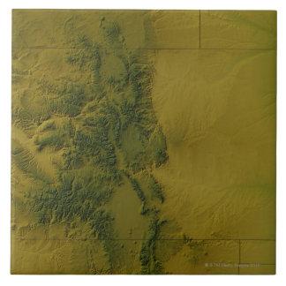 Karta av Colorado Kakelplatta