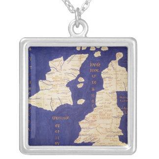 Karta av de brittiska islesna, från 'Geographia Silverpläterat Halsband