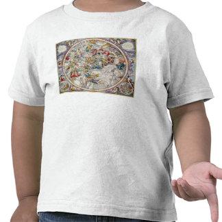Karta av de kristna konstellationerna som visad t-shirts