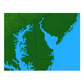Karta av Delaware Vykort