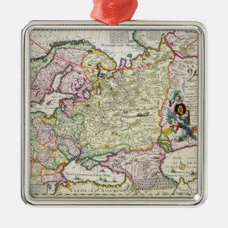 Karta av den Asien minderårigen Julgransprydnad Metall
