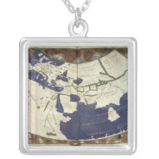 Karta av den bekant världen, från 'Geographia Silverpläterat Halsband