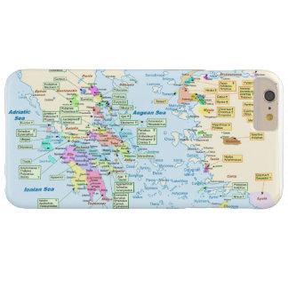 Karta av den Homeric eraen Grekland med engelska Barely There iPhone 6 Plus Skal