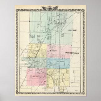 Karta av det normala, Bloomington Poster