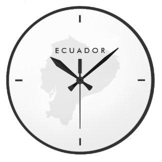 Karta av Ecuador Stor Klocka