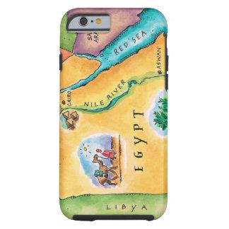 Karta av egyptenen tough iPhone 6 skal