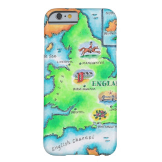 Karta av England Barely There iPhone 6 Fodral
