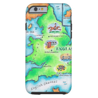 Karta av England Tough iPhone 6 Case
