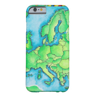 Karta av Europa 2 Barely There iPhone 6 Skal
