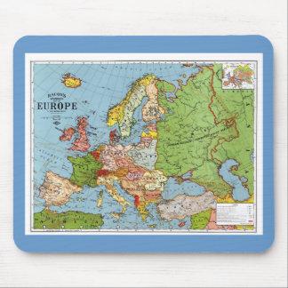 Karta av Europa Mus Matta