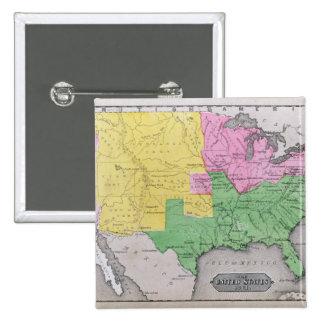 Karta av Förenta staterna Standard Kanpp Fyrkantig 5.1 Cm