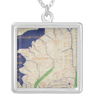 Karta av frankriken, från 'Geographia Silverpläterat Halsband