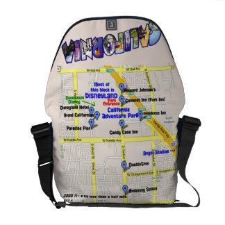 Karta av hotell runt om den Disneyland messenger Kurir Väskor