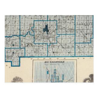 Karta av Howard County med Russiaville Vykort