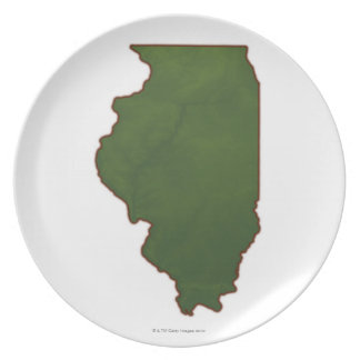 Karta av Illinois 2 Tallrik