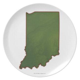 Karta av Indiana 3 Tallrik