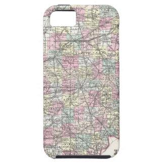 Karta av Indiana. Joseph Hutchins Colton iPhone 5 Fodraler