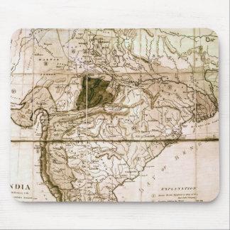 Karta av Indien, 1803 Musmatta