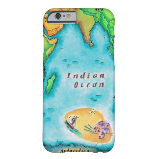 Karta av Indiska oceanen Barely There iPhone 6 Skal