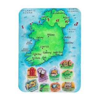 Karta av Irland Magnet