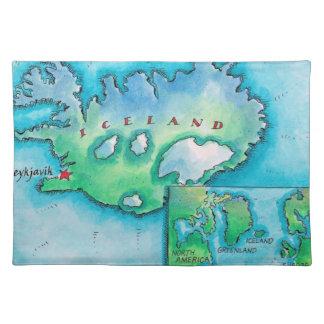 Karta av islandet bordstablett