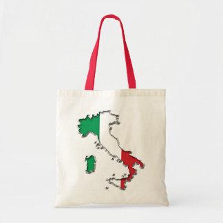 Karta av italien budget tygkasse