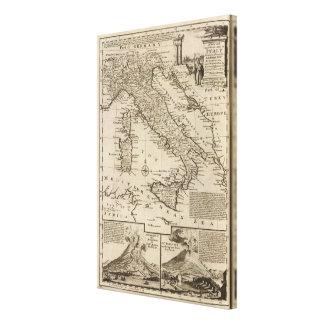 Karta av italien canvastryck