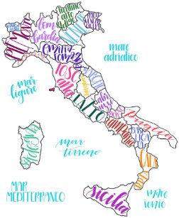 Karta Italien Regioner.Karta Av Italien Vaskor Zazzle Se