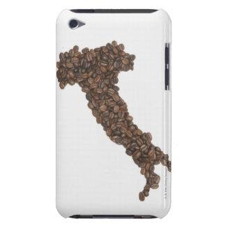 Karta av italien som göras av kaffebönor barely there iPod covers