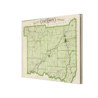 Karta av Jackson County 2 Canvastryck