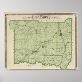 Karta av Jackson County Poster
