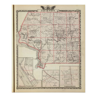 Karta av Jackson County, storslaget torn Poster