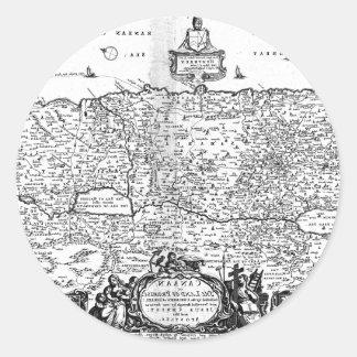 Karta av Kanaan Runt Klistermärke