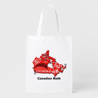 Karta av Kanada den återvinningsbara totot Återanvändbar Påse