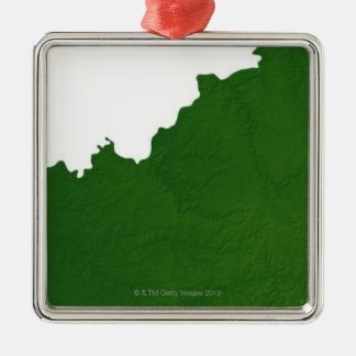 Karta av Kentucky Julgransprydnad Metall