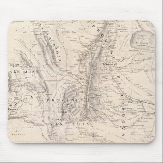 Karta av landskapen av Cordova och San Luis Musmatta