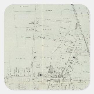 Karta av Manasquan som är ny - jersey Fyrkantigt Klistermärke