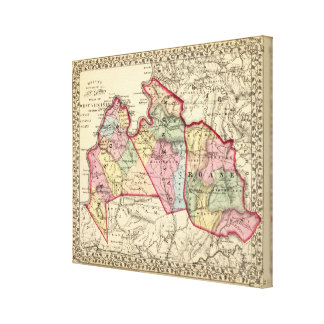 Karta av masonen, Jackson, Roane län Canvastryck